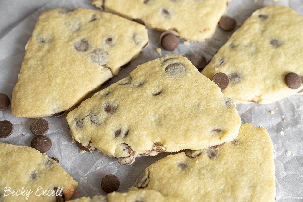 4-Ingredient Gluten Free Choc Chip Shortbread Recipe (low FODMAP/dairy-free/vegan option)