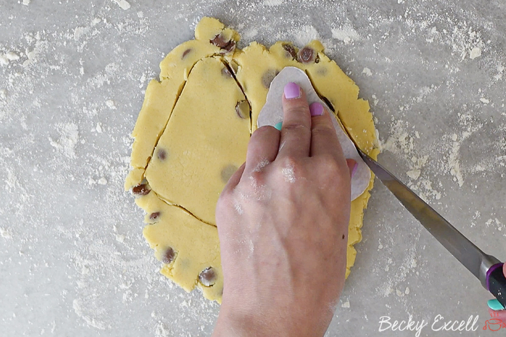 Cut out your shapes using templates or a biscuit cutter.