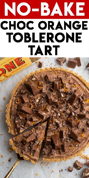 Gluten-free Chocolate Orange Toblerone Tart Recipe - No-bake