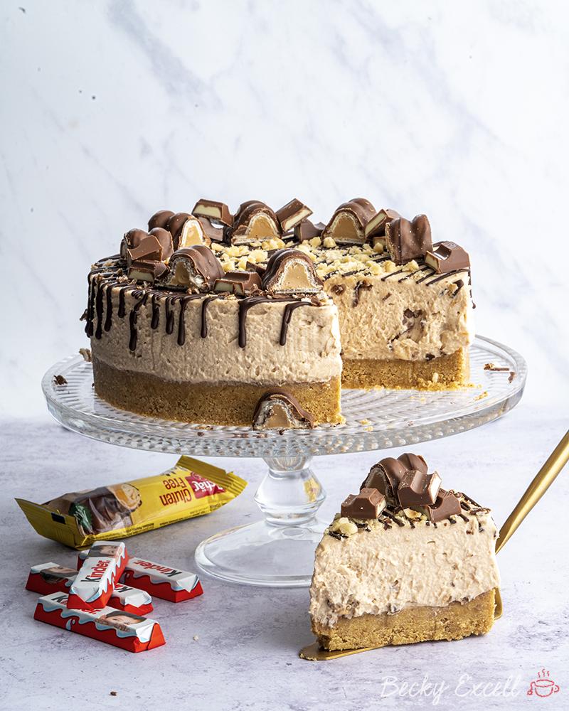 Gluten-free 'Kinder Bueno' Cheesecake Recipe (No-bake)