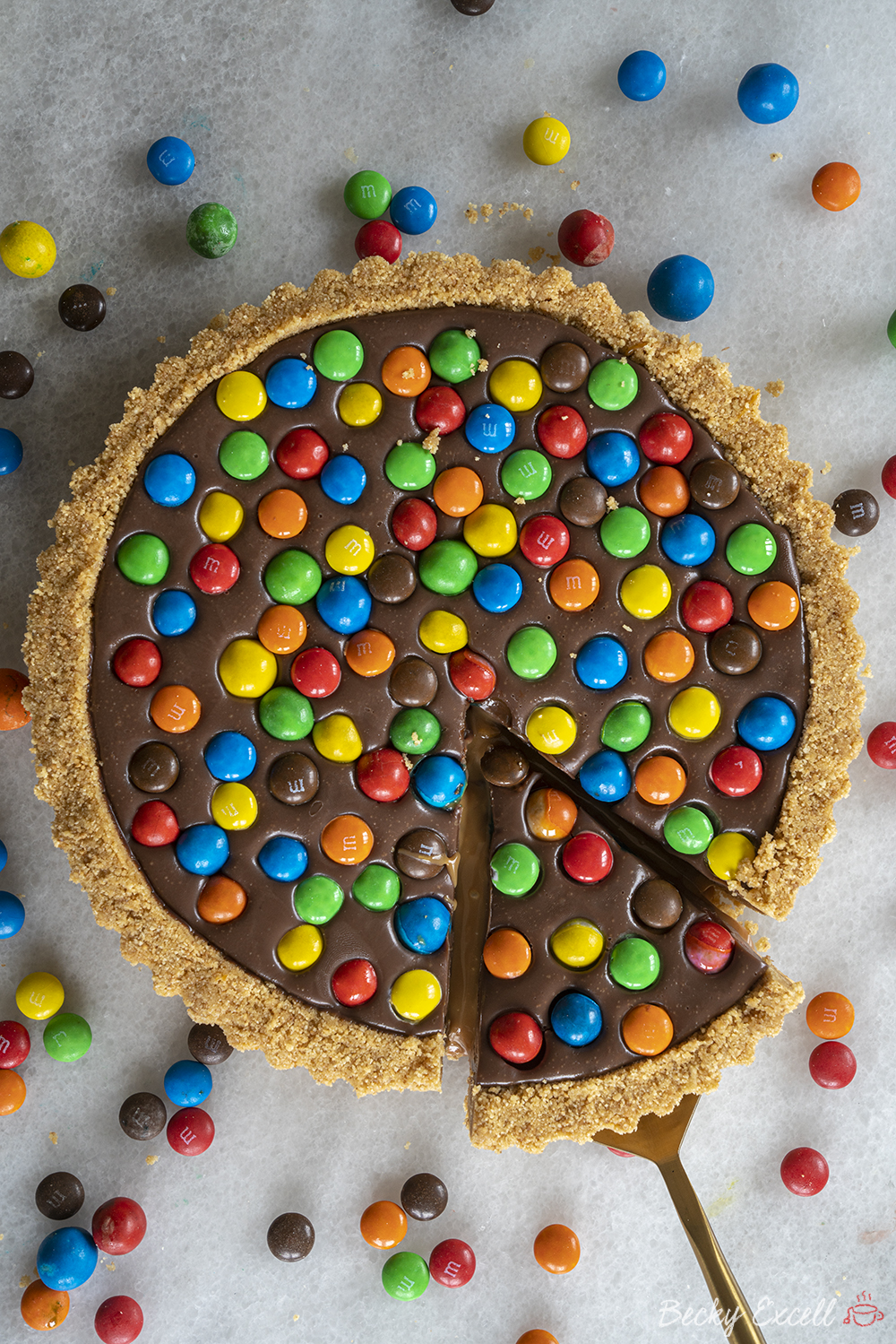 Gluten-free M&M's Salted Caramel Tart Recipe - No-bake