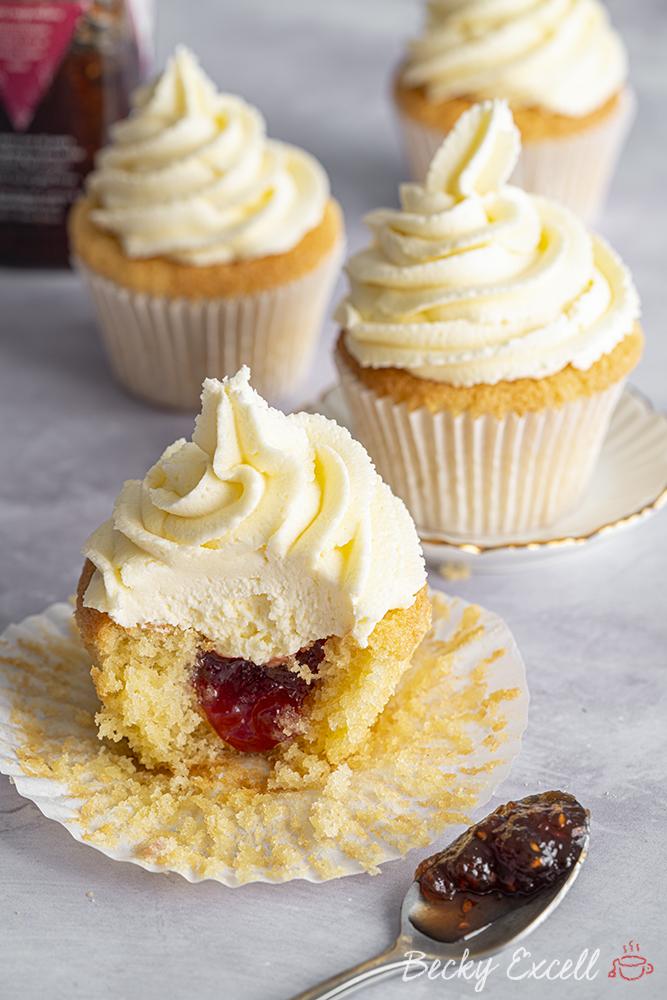 Gluten-free Vanilla Cupcakes Recipe - BEST EVER! (low FODMAP, dairy-free/vegan option)