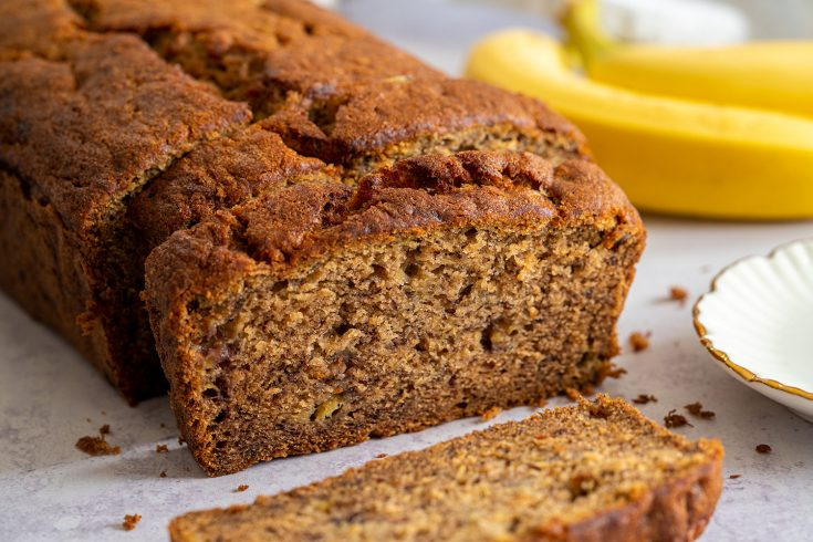 Gluten Free Banana Bread Recipe with 6-Ingredients (dairy free)