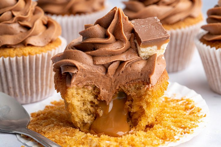 Gluten-free Millionaire's Cupcakes Recipe (dairy-free option)