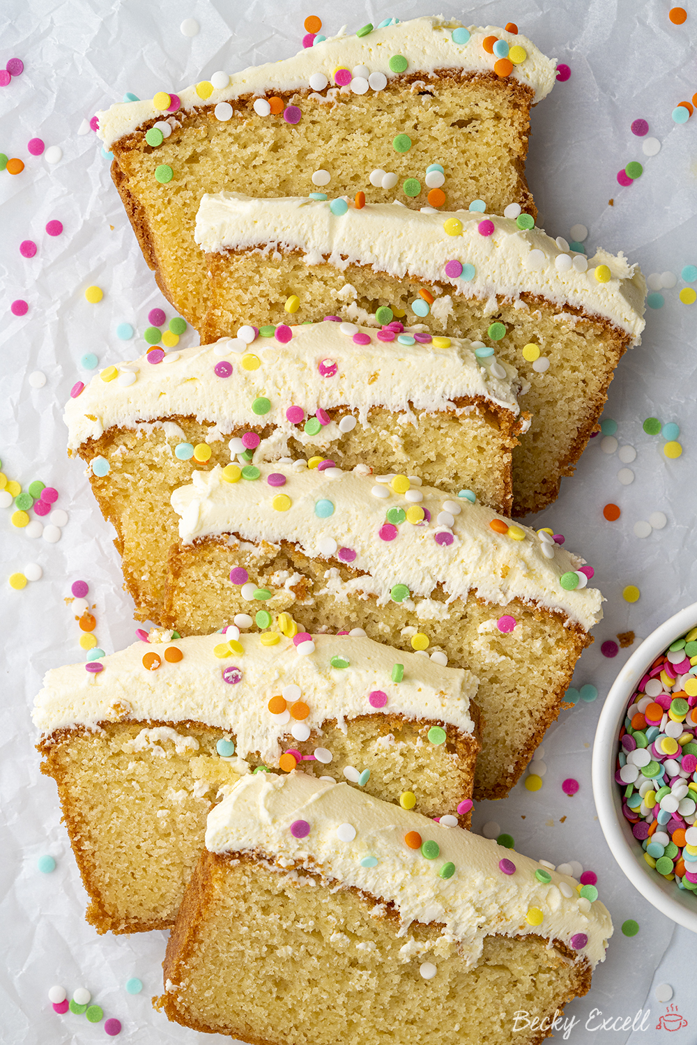 Gluten-free Vanilla Loaf Cake Recipe - BEST EVER! (dairy-free option)