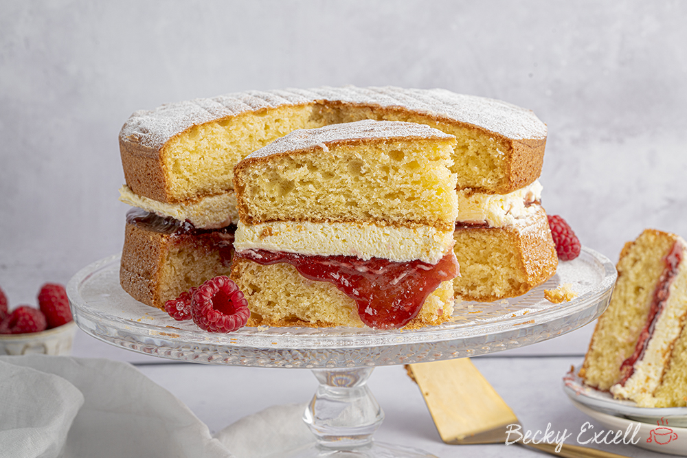 Gluten-free Victoria Sponge Cake Recipe - BEST EVER! (low FODMAP, dairy-free option)