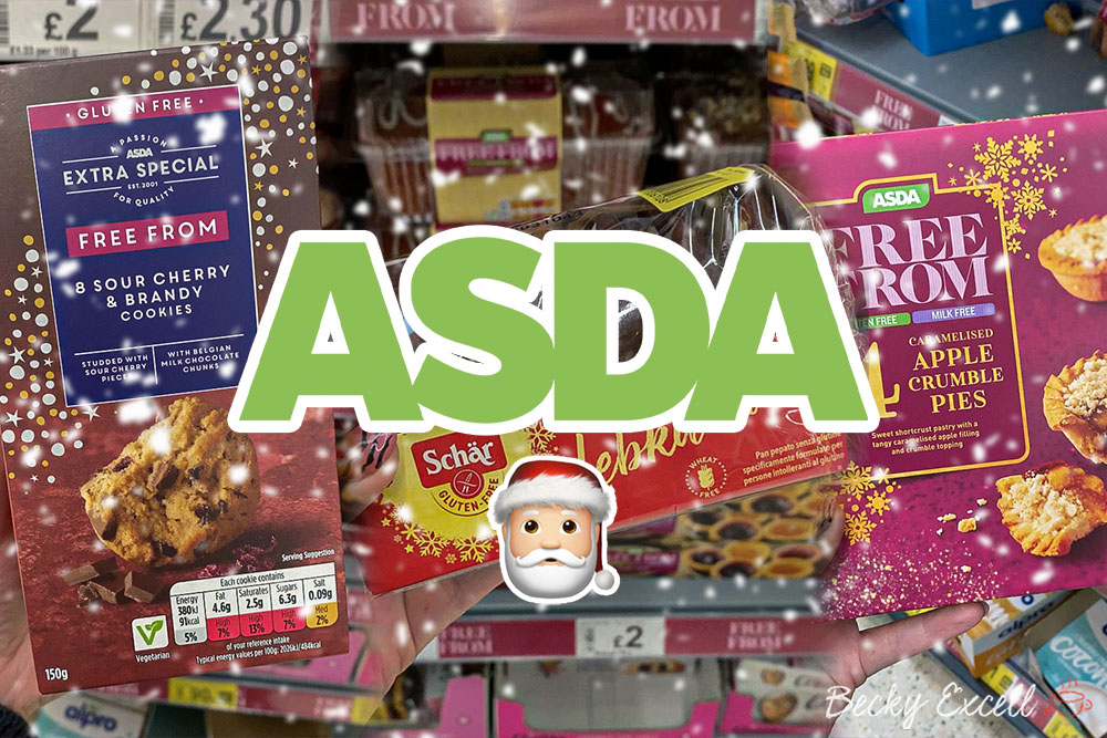 25 NEW products in the Asda Gluten-free Christmas Range 2020
