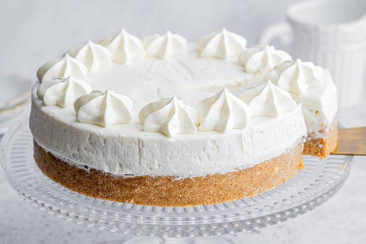 Dairy-free Vanilla Cheesecake Recipe - No-bake (vegan)