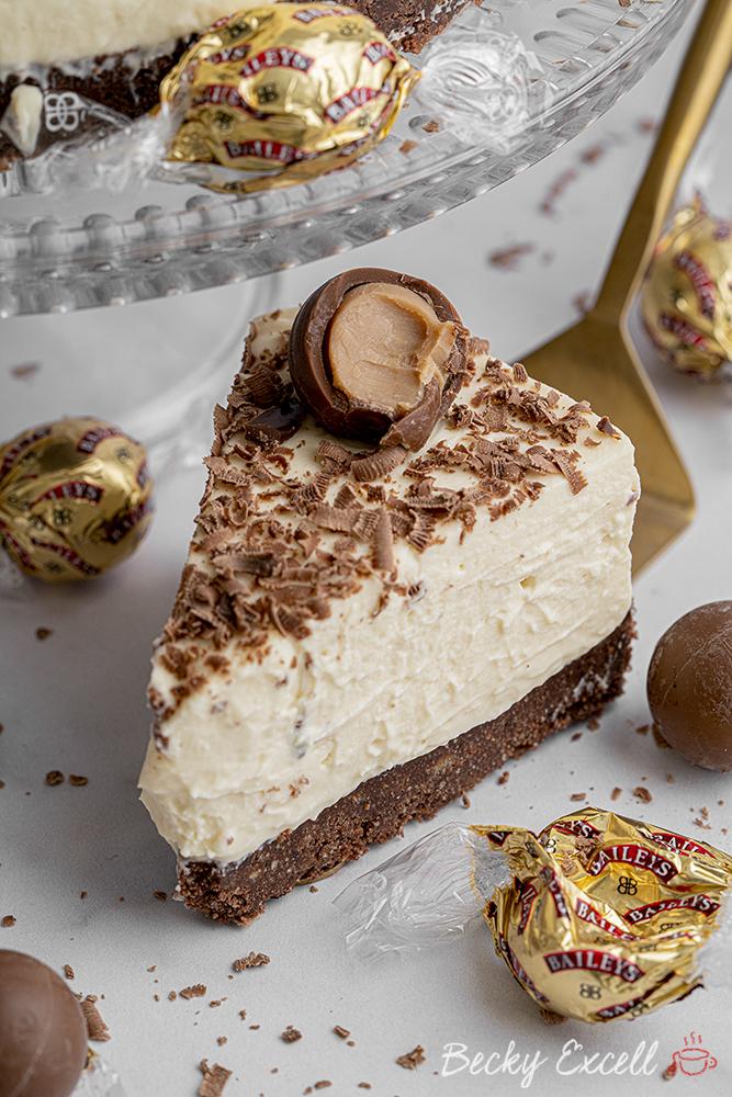 Gluten-free Baileys Cheesecake Recipe - No-bake (dairy-free/vegan option)