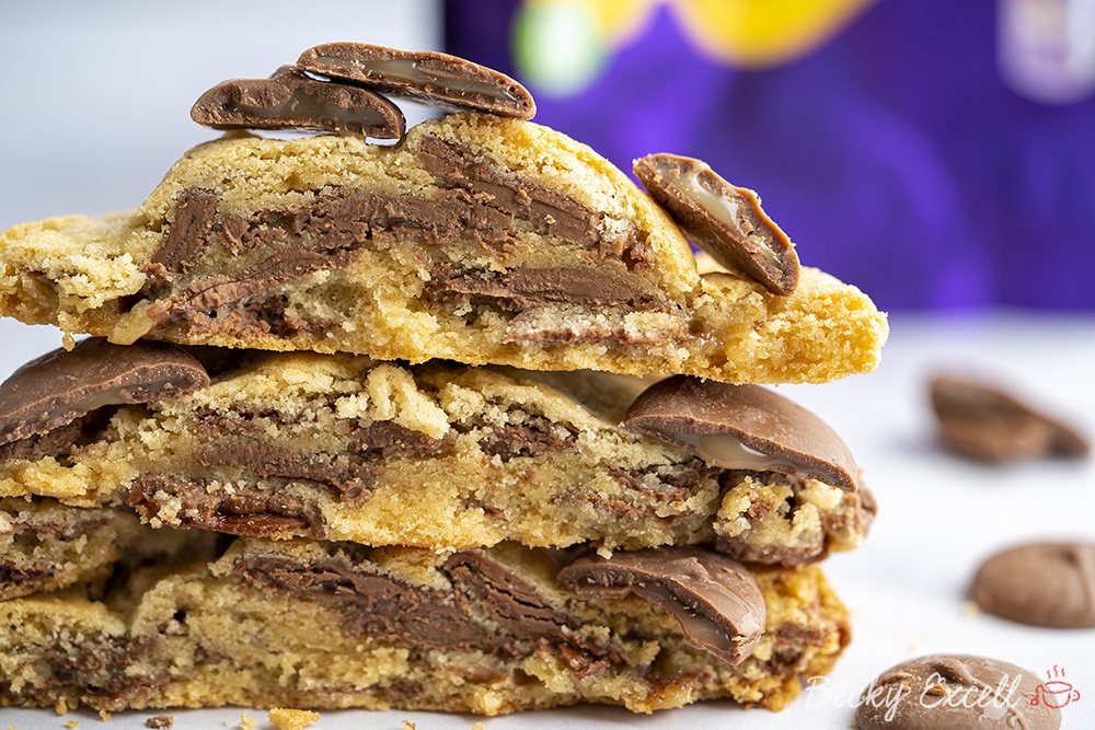 Gluten-free Cadbury Caramel Cookies Recipe (using Cadbury Caramel Nibbles)