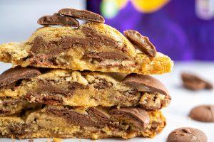 Gluten-free Cadbury Caramel Cookies Recipe (using Cadbury Caramel Nibbles)