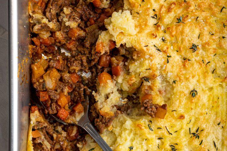Gluten-free Cottage Pie Recipe (low FODMAP, dairy-free)