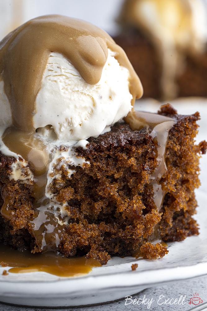 Gluten-free Sticky Toffee Pudding Recipe (low FODMAP/dairy free option)