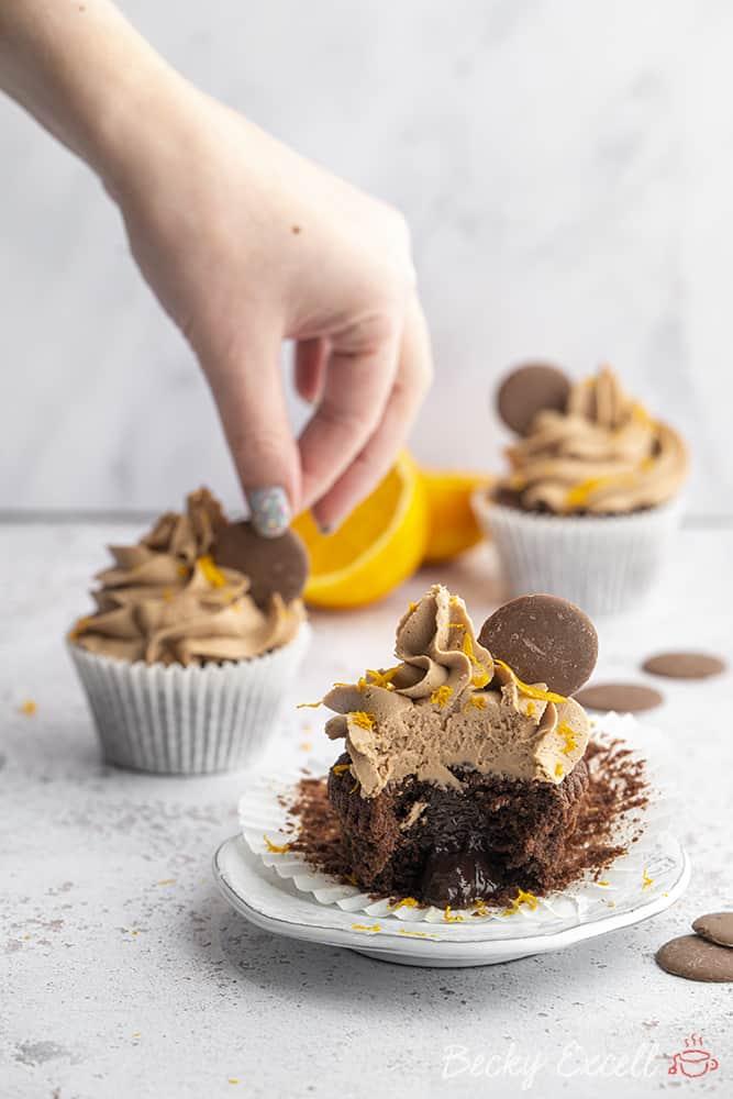Gluten-free Chocolate Orange Cupcakes Recipe (dairy-free/low FODMAP option)