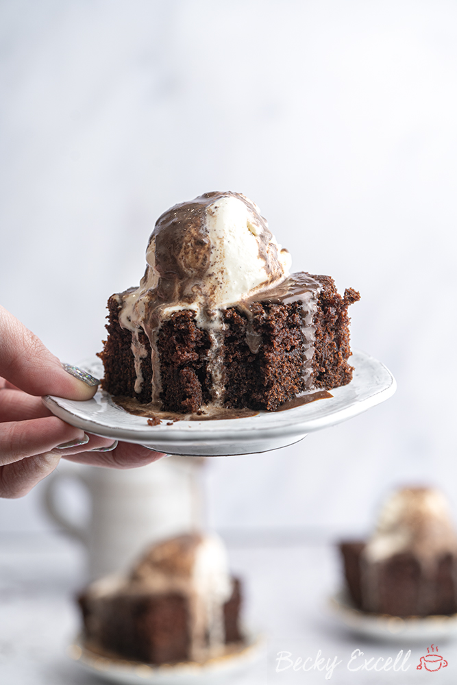 Gluten-free Hot Chocolate Sponge Pudding Recipe (dairy-free option)