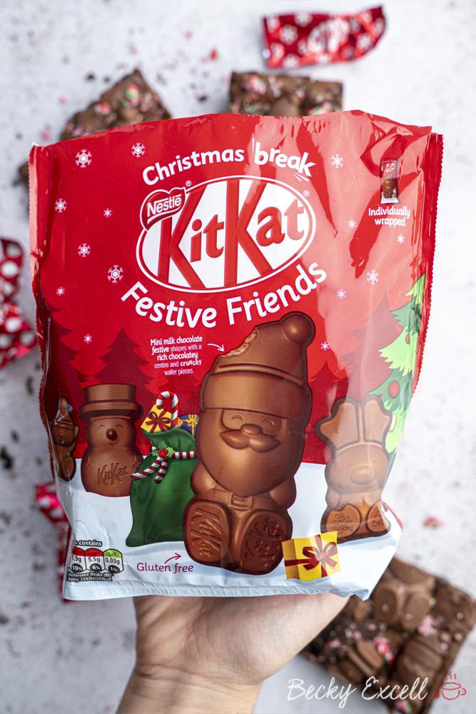 Gluten-free Christmas Brownies Recipe (using KitKat Festive Friends)