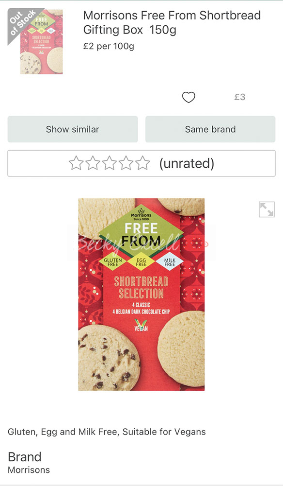 30 NEW products in the Morrisons gluten-free Christmas Range 2020