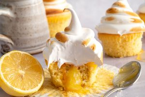 Gluten-free Lemon Meringue Cupcakes Recipe (low FODMAP + dairy-free/vegan option)