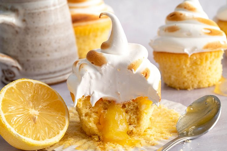 Gluten-free Lemon Meringue Cupcakes Recipe (low FODMAP + dairy-free option)