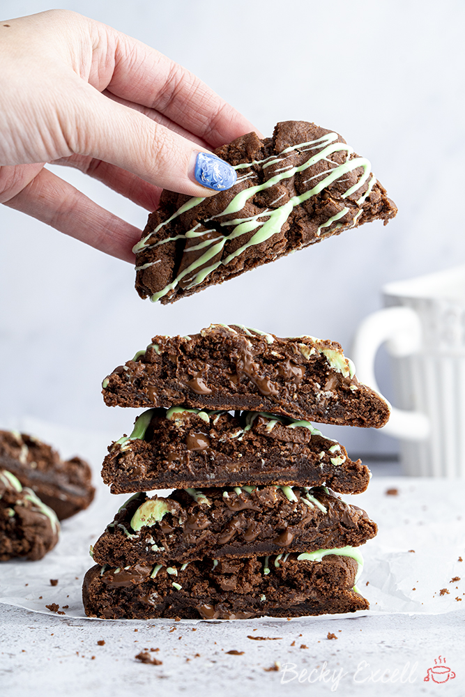 Gluten-free Mint Chocolate Cookies Recipe (vegan/dairy-free)