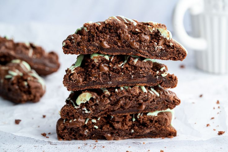 Gluten-free Mint Chocolate Cookies Recipe (dairy-free/vegan)