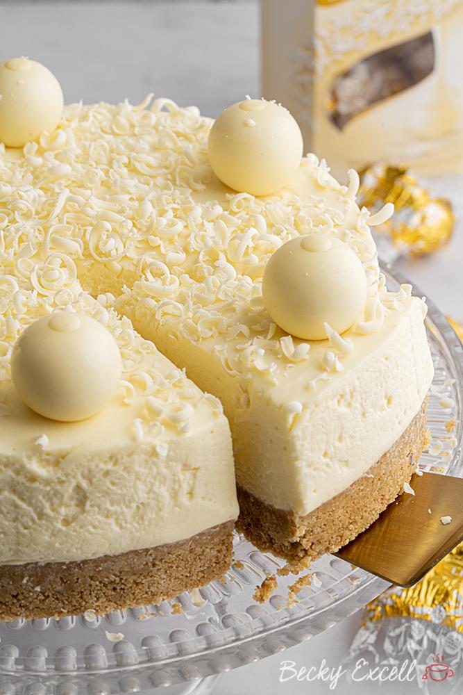 Gluten-free White Chocolate Cheesecake Recipe (dairy-free option)