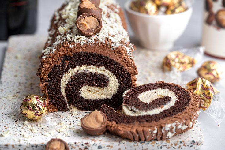 Gluten-free Baileys Yule Log Recipe (dairy-free option)