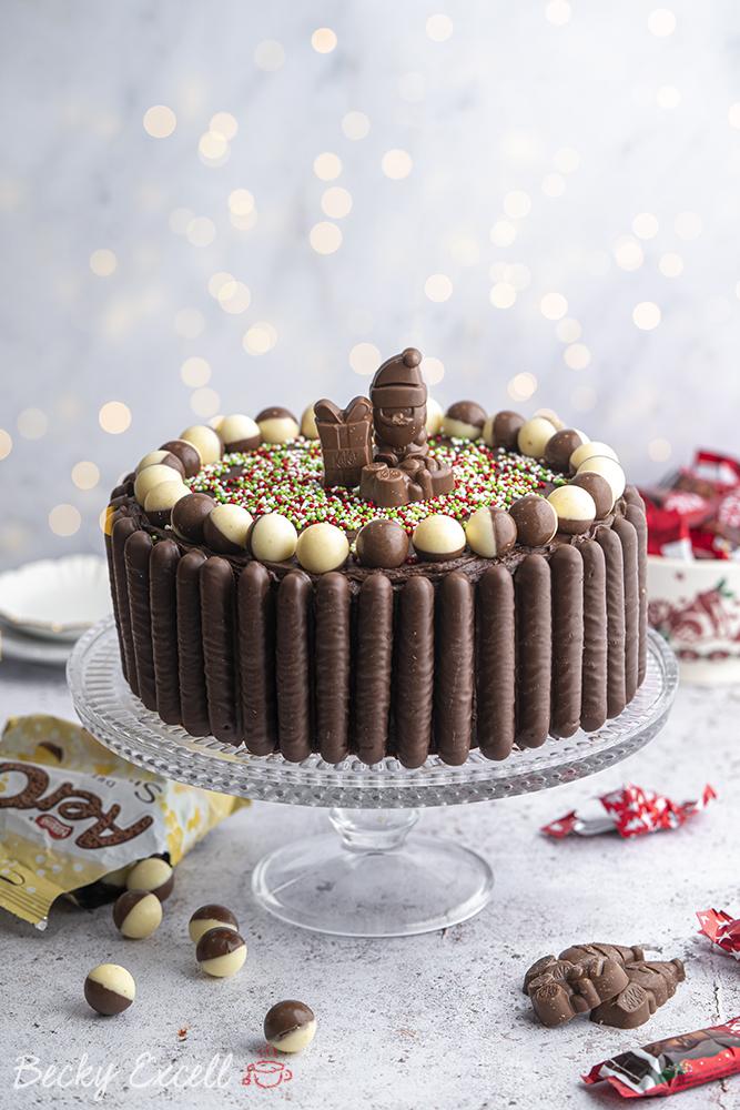 Gluten-free Christmas Chocolate Cake Recipe - BEST EVER! (dairy-free option)