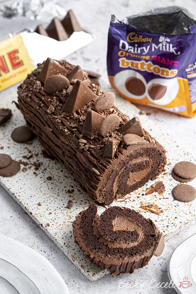 Gluten-free Chocolate Orange Yule Log Recipe (dairy-free option)