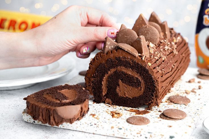 Gluten-free Chocolate Orange Yule Log Recipe (dairy free)