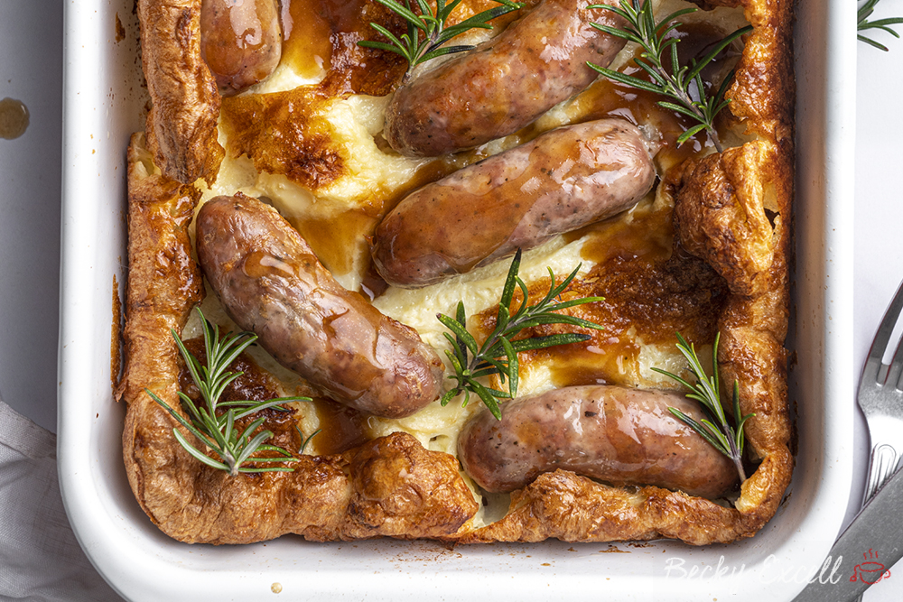 Gluten-free Toad in the Hole Recipe - BEST EVER! (low FODMAP + dairy-free option)