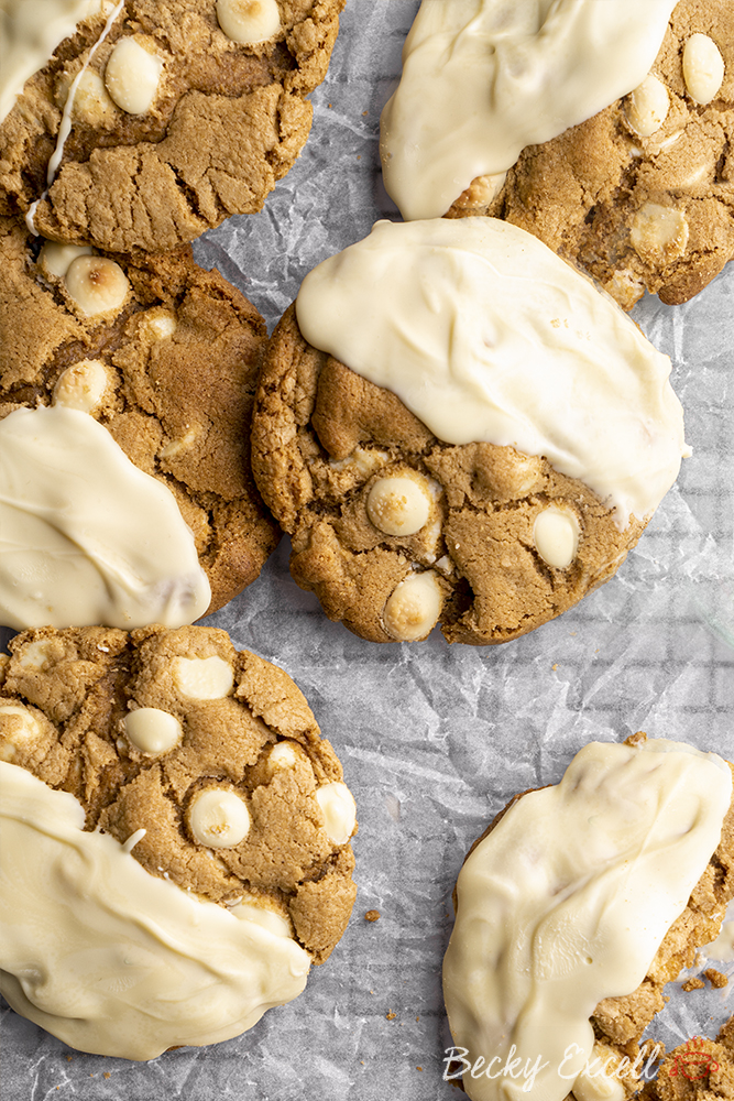 Gluten-free White Chocolate and Ginger Cookies Recipe (dairy-free/low FODMAP option)