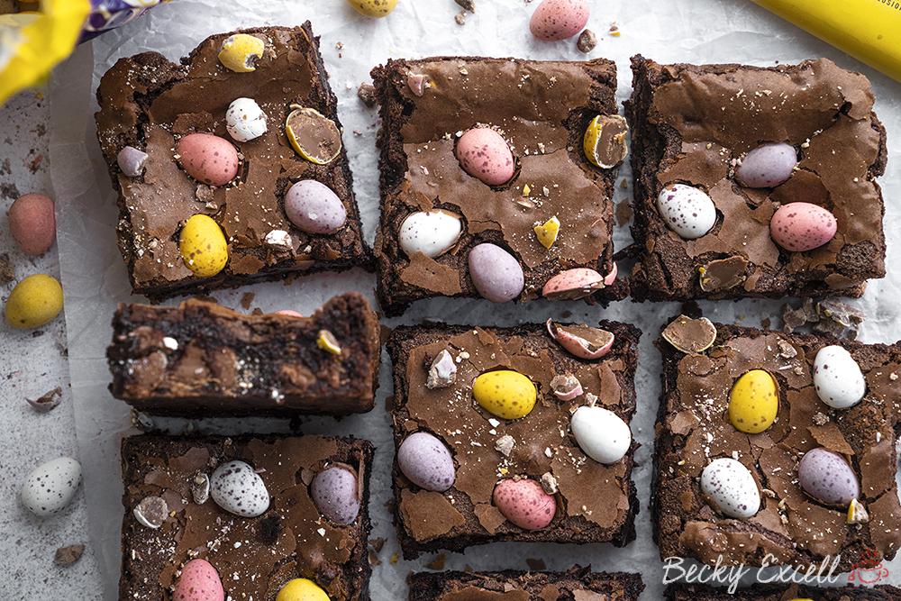 Mini Egg Brownies Recipe - Easter baking! (gluten-free)