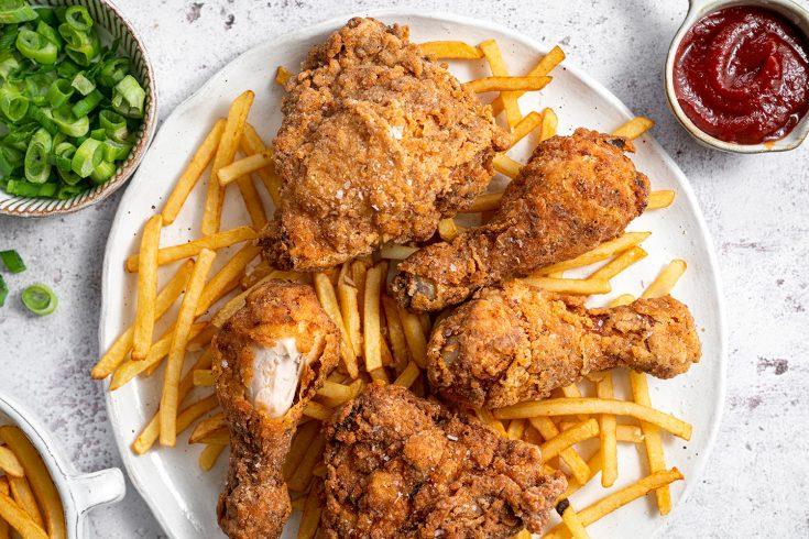 Gluten-free Buttermilk Fried Chicken Recipe - BEST EVER! (low FODMAP/dairy-free option)
