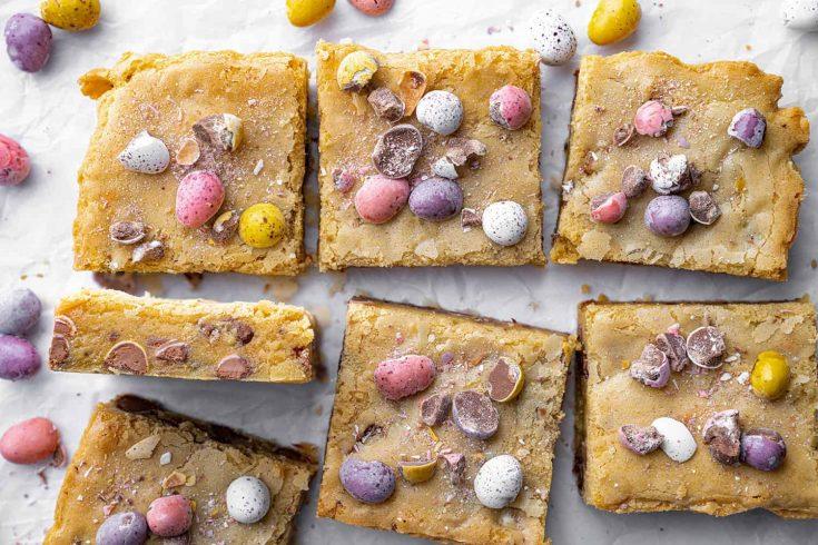 Mini Egg Blondies Recipe (gluten-free)