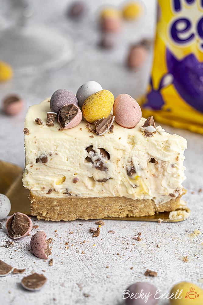 Gluten-free Mini Egg Cheesecake Recipe (No-Bake) - BEST EVER!