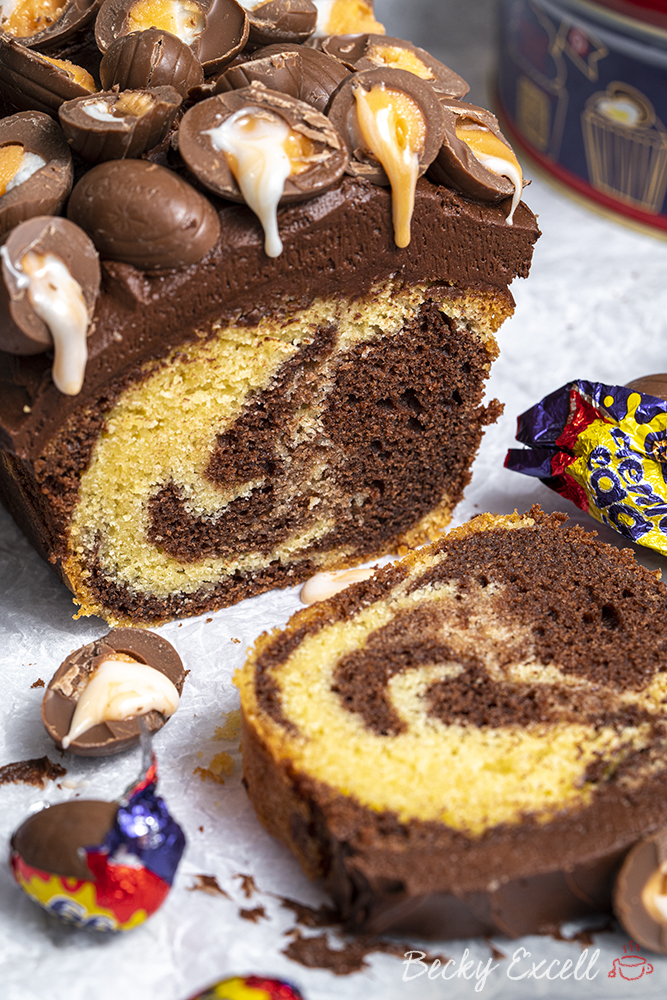 Gluten-free Creme Egg Marble Cake - Easter baking!