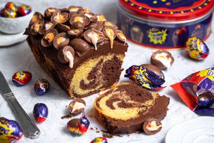 Gluten-free Creme Egg Marble Cake Recipe - Easter baking!