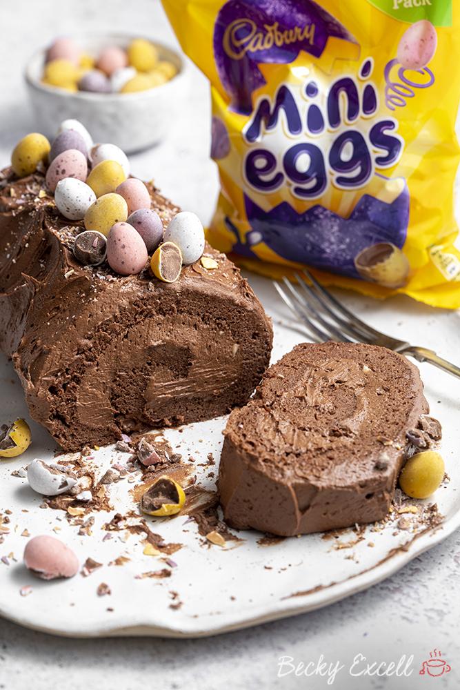 Gluten-free Mini Egg Swiss Roll Recipe - Easter baking!