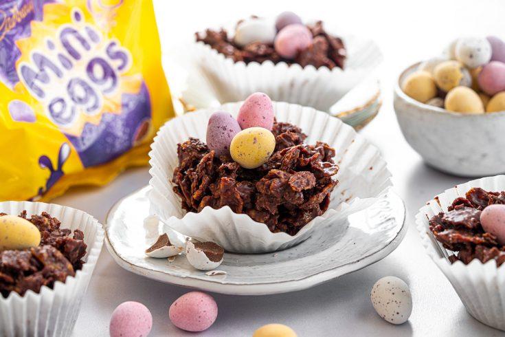 Mini Eggs Nest Cake Recipe - No-bake (Easter baking!)