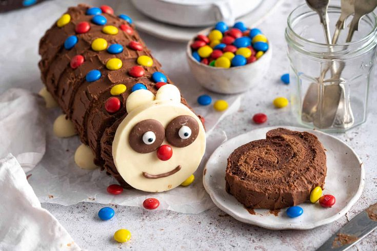 Gluten-free Caterpillar Cake Recipe (dairy-free option)