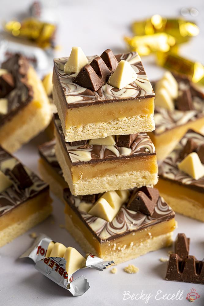 Toblerone Millionaire's Shortbread Recipe (gluten-free)
