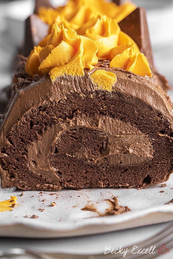 Gluten-free Chocolate Orange Swiss Roll Recipe (dairy-free/low FODMAP option)