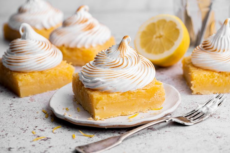 Gluten-free Lemon Meringue Bars Recipe (dairy-free option + low FODMAP)