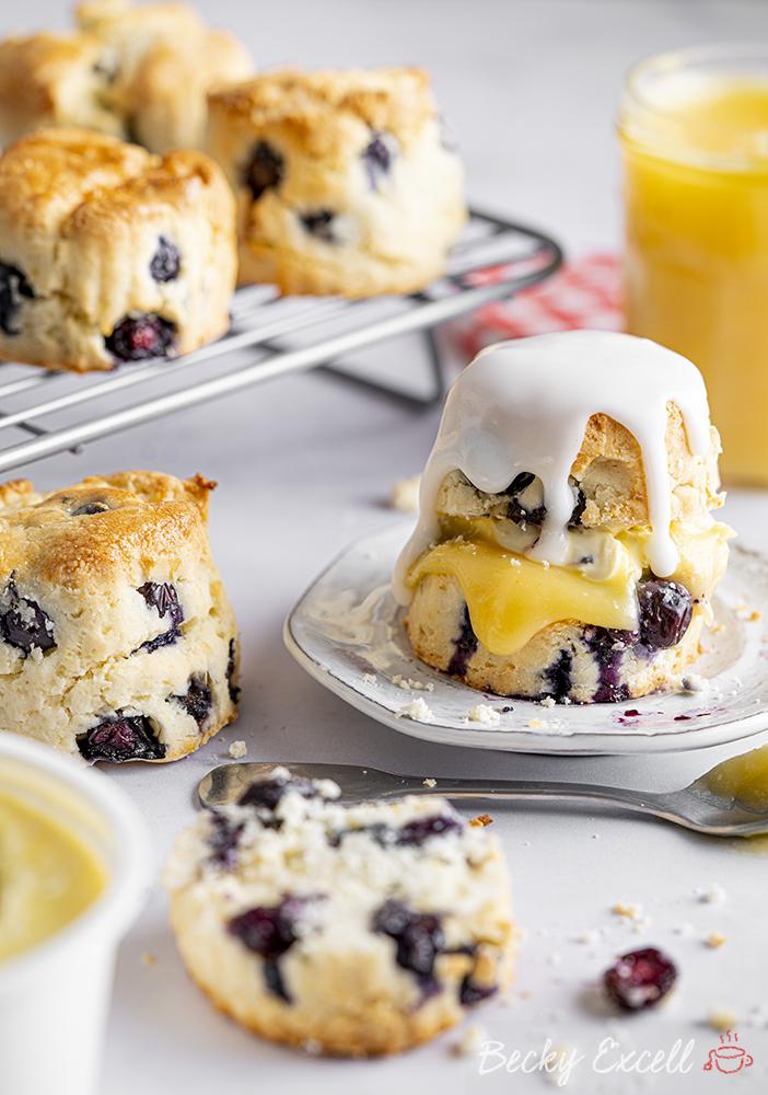 Gluten-free Lemon and Blueberry Scones Recipe (dairy-free option)