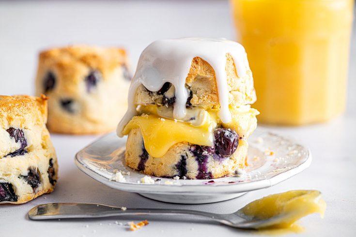 Gluten-free Lemon and Blueberry Scones Recipe (dairy-free/vegan option)