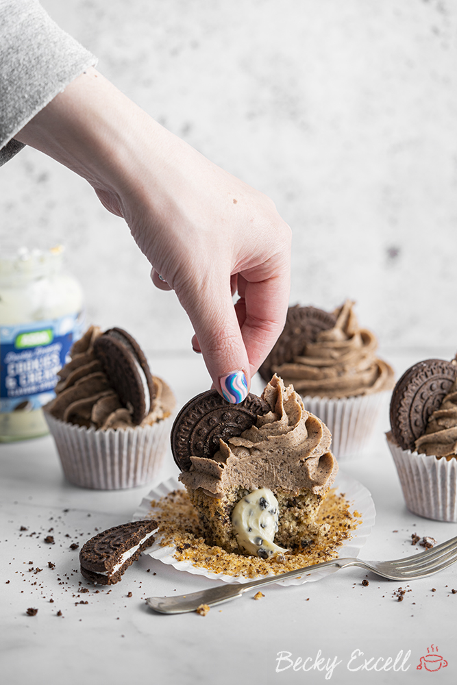 Gluten-free Oreo Cupcakes Recipe (dairy-free option)