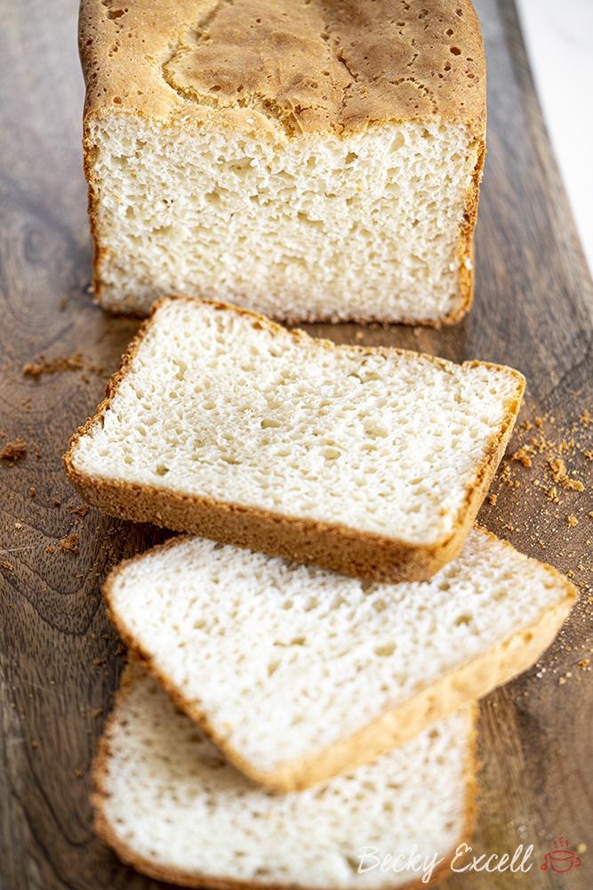 Gluten-free White Breadmaker Loaf Recipe (dairy-free option)