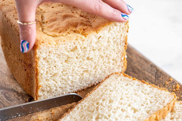 Gluten-free White Breadmaker Loaf Recipe (dairy-free)