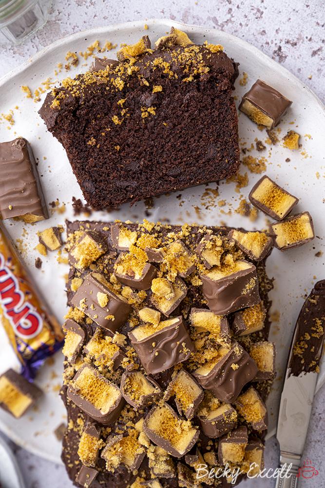 Crunchie Chocolate Loaf Cake Recipe (gluten-free + dairy-free option)